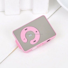 Mini 7 colors mirror clip USB digital MP3 music player support 8GB SD TF Card