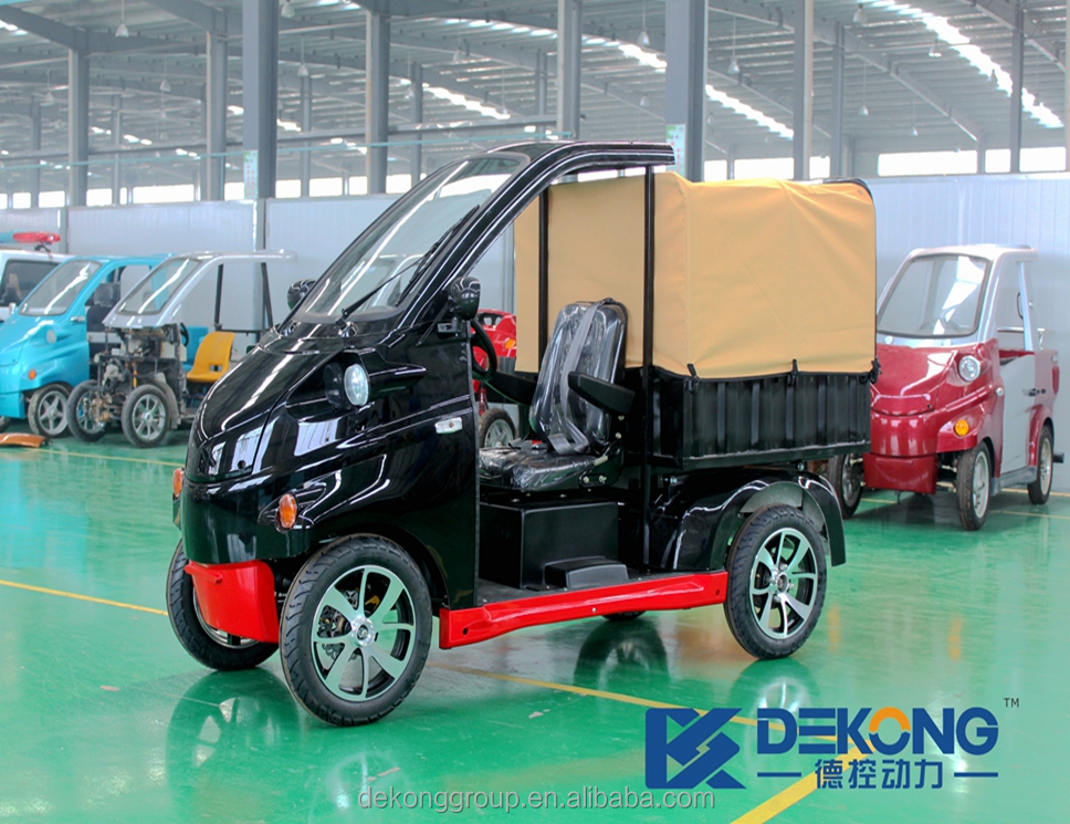 Brand new battery powered one passenger electric mini car cargo