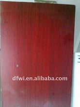 red color melamine plywood