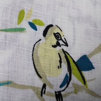 100% linen print fabric for apparel//flax fabric