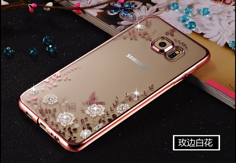 For Samsung S7 beautiful Case,Inspirationc [Secret Garden] TPU Plating Clear Shiny Cover Series for Samsung S7