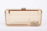 Elegant small evening handbags ladies clear handbag