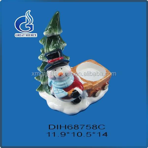Cute decorative christmas characters candle glass holders made in China