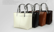 hot selling famous leather designer brand bucket tote ladies handbag manufacturer