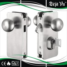 glass lock for sliding door and swing door, with cylindrical knobset and cylinder