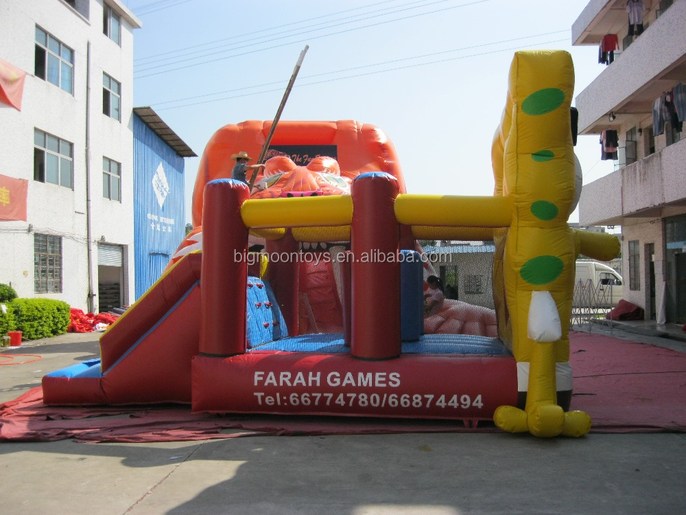 Giant hot sale the latest commercial inflatable bouncer slide