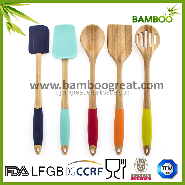 Wooden Silicone kitchen utensils