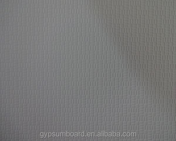plaster board/gypsum ceiling tile, PVC face and aluminium foil back