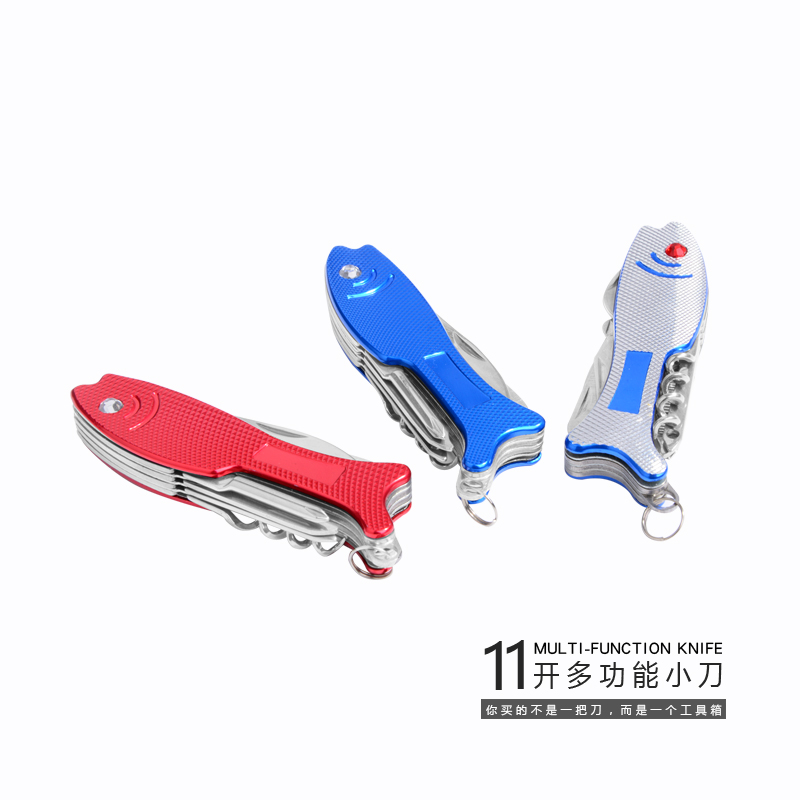 Fish model multi function stainless steel folding pocket knife Outdoor Camping Knife