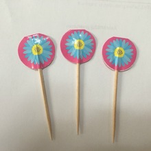 wholesale custom design birthday party item wooden toothpicks