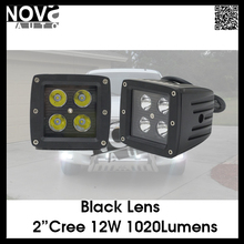 4Inch Truck Offroad Amber 12W Auto LED Work Light 4D cube led work light