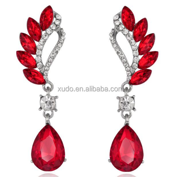 fashion gold jewelry jhumke <strong>earring</strong> jewellery rhinestone <strong>earring</strong> wholesale