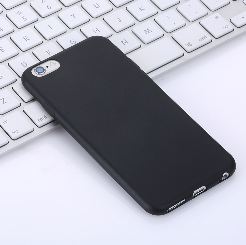 SEVEN-DAY'S Bulk Fancy Ultra Thin TPU Cell Phone Case For iPhone 6 6S, Black Mobile Back Cover for Ladies