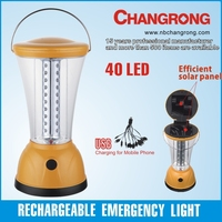 Emergence light emergency led solar lantern battery camping lantern