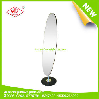 Oval floor dressing mirror with marble base