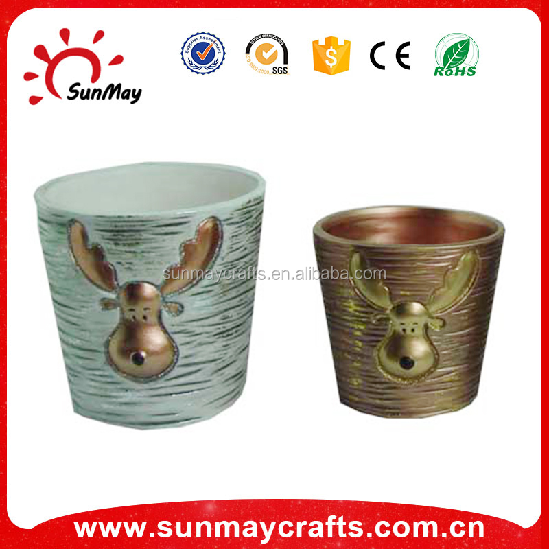ceramic Christmas ornament flower pot