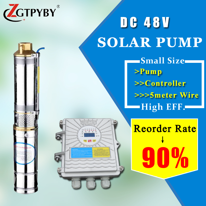 solar water pump irrigation 5hp solar water pump high head solar submersible water well pumps