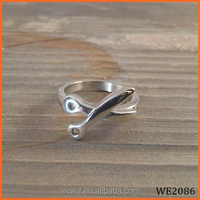 fashion tat rings scissor ring stainless steel hand forged hair stylist ring