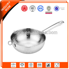 Cheap and high quality with long handle colander stainless steel function