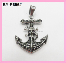 stainless steel anchor pendant