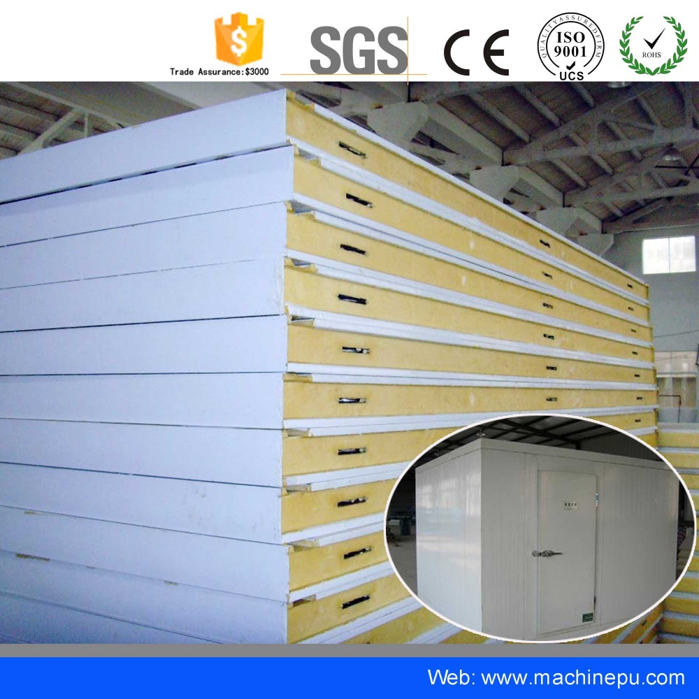 PU polyurethane refrigerator freezer wall insulation cold room panel