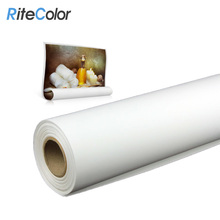 Wholesale Art Supplies 320gsm Waterproof Matte Inkjet Cotton Canvas For Digital Plotter Printing