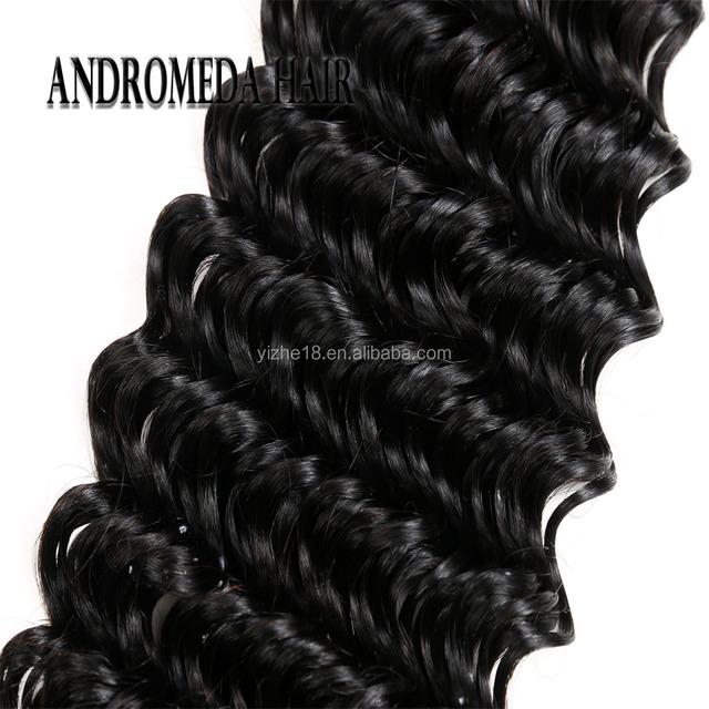 Peruvian Human Hair Remy Deep Wave 100% Human Hair Weave Bundles Natural Color Remy Hair Extensions