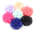 High Quality chiffon Artificial Flower Craft Hair Decorative lotus Flowers Wholesale hair accessories