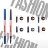 Automatic waterproof eyebrow pencil with brush