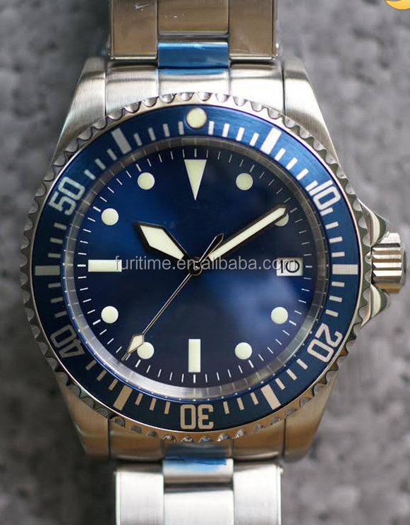 Luxury Stainless Steel Bracelet Automatic Watches Ceramic Bezel Diving Wrist Watches Men