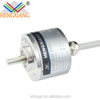 S38 Optical Encoder incremental solid shaft encoder rotary encoders