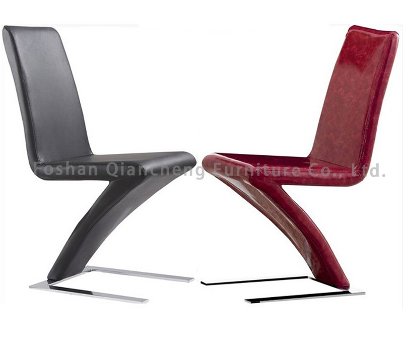 Leather z shape dining chair view z shape dining chair for Z shaped dining chair