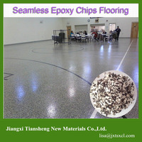 Durable Economical and Attractive Epoxy Seamless Chips Flooring System UV Resistant