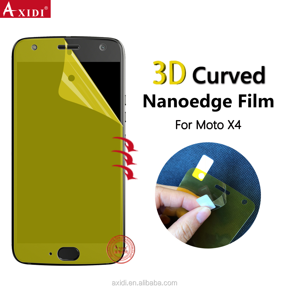 NANOEDGE Amazon Warehouse Supplier Anti Shock Screen Guard Film for Motorola Moto X4 Screen Protector