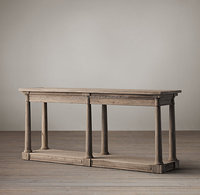 antique reclaimed wood console table Reproduction French Furniture