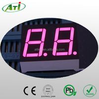 0.3 inch red color, two digit, dual digits 7 segment led display full color
