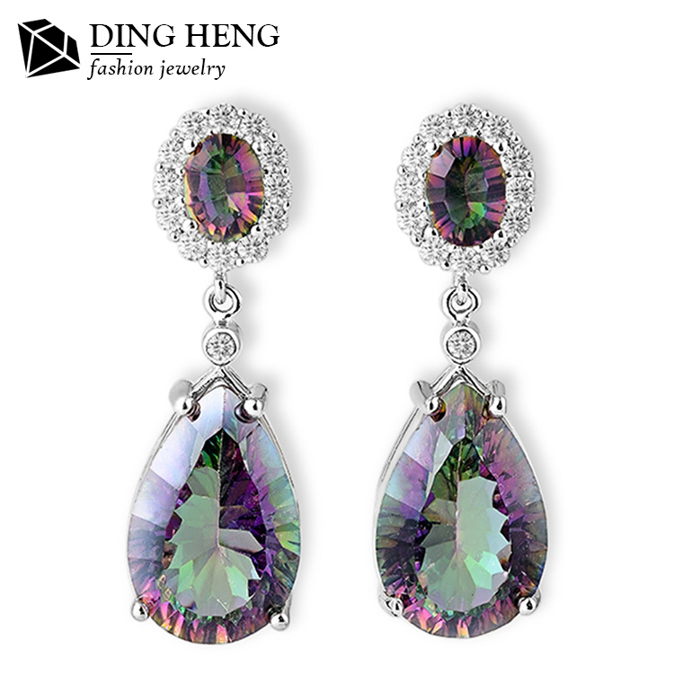 Factory Direct Price All Kinds Of New Design Fashion Earrings Hot Sale Druzy 925 Sterling Silver Jewelry Wholesale