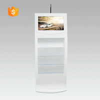 "21.5"" Full HD ads for grocery stores with brochure holder"