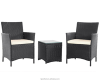 beautiful cheap outdoor rattan sofa, very fashioned popular black rattan sofa