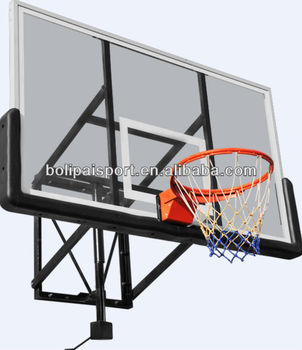 outdoor aluminum frame basketball pole and backboard