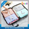 Encai Travel Laundry Zipper Pouch 12pcs Set Flower Printing Storage Packing Cube Set
