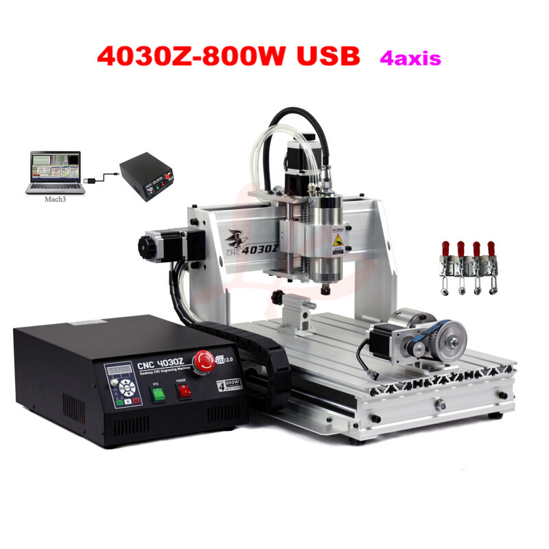 800W usb port <strong>CNC</strong> 3040 4 axis <strong>cnc</strong> router engraver machine for wood, metal, aluminum working router