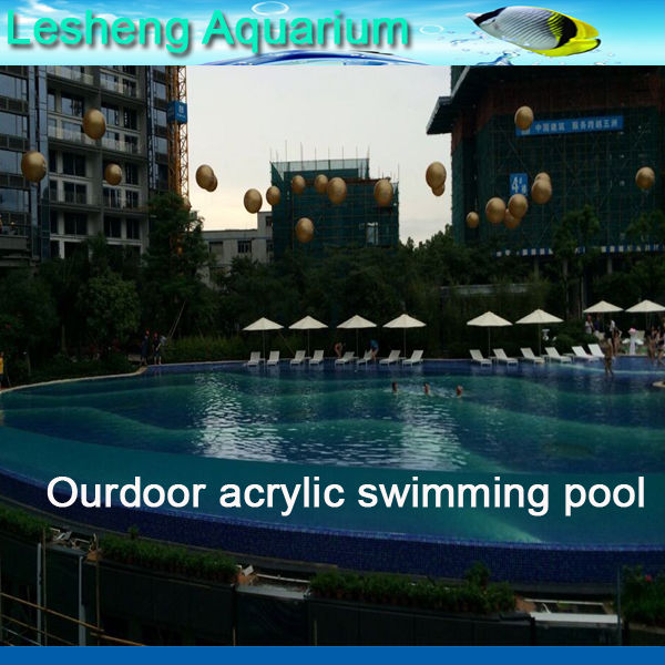 custom size acrylic sheet for plastic swimming pools