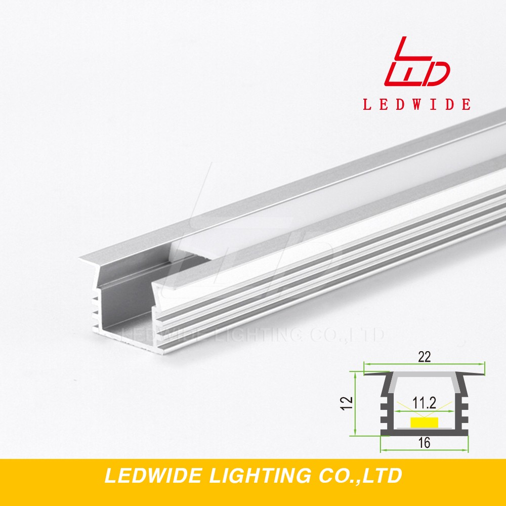 Alloy 6063 industrail t slot recessed aluminum extrusion profile for led strips lights