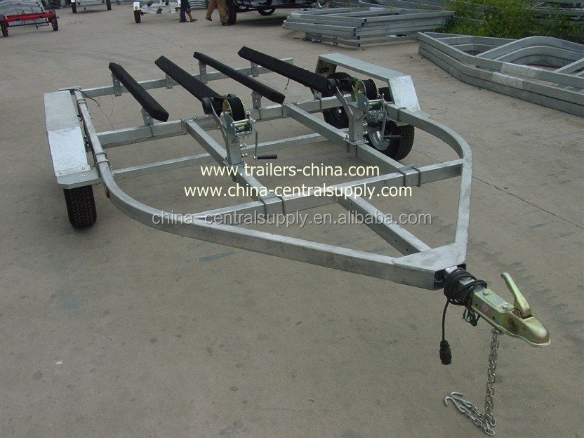 Factory and Manufacturer Supply 4.2m Double Jet ski trailer / roller or bunk trailer CT0064