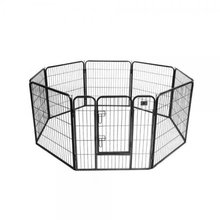 Heavy Duty 8 Panels Enclosure Dog Pet Cat Pen Cage Puppy Play Fence