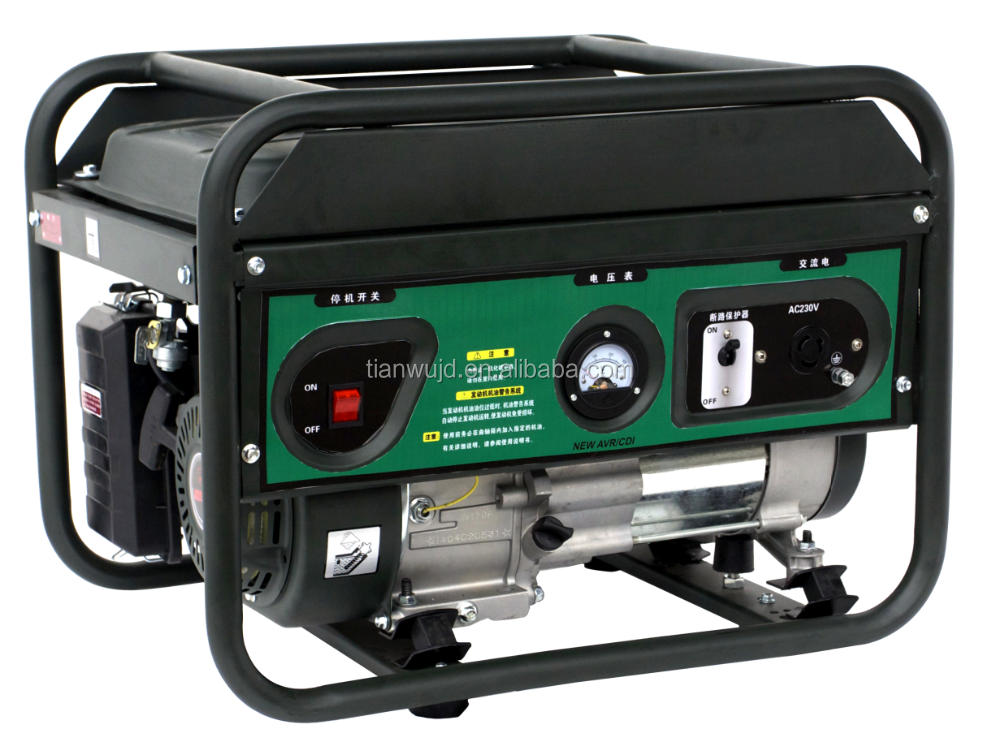 New Air Cooled Professional Style Power Gasoline 2500W generator 2.5kW for sale