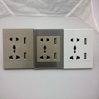 Factory Price 220V EUR Double USB Universal Wall Sockets