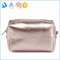 2016 Shiny pu women's zipper cosmetic bag /pouch