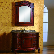Wholesale antique european floor mounted luxury bathroom vanity cabinets mdf made in china